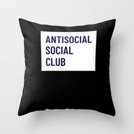 Antisocial Social Club - Introvert Gift Throw Pillow
