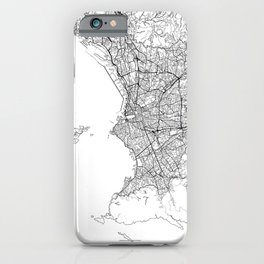 Marseille Map White iPhone Case