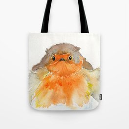 Fluffy Red Robin Tote Bag