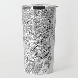 Montreal White Map Travel Mug