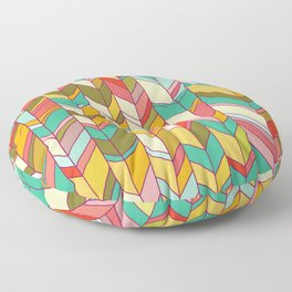 Knitted Pattern Floor Pillow
