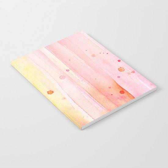 Pink Rain Watercolor Texture Notebook
