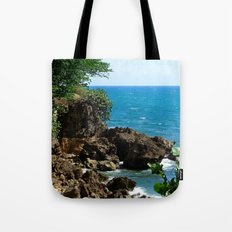 Near the lighthouse @ Rincon Tote Bag