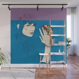Grimes - Musician portrait - Digital illustration Wall Mural