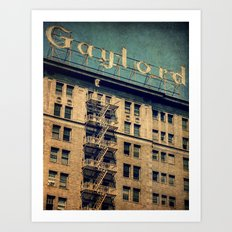 1924 Gaylord Apartments Vintage Neon Sign  Art Print