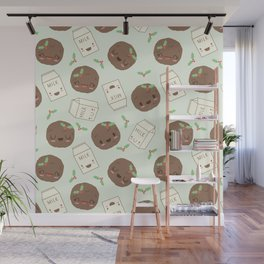 Cute Cookies and Milk for you! Wall Mural