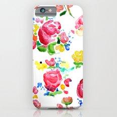 Watercolor Roses iPhone 6s Slim Case