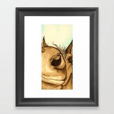 How nosey! Framed Art Print
