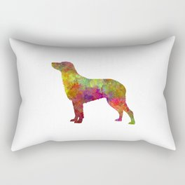 Curly Coated Retriever in watercolor Rectangular Pillow