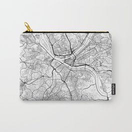 Pittsburgh Map White Carry-All Pouch