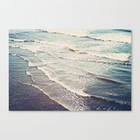 waves Canvas Prints featuring Ocean Waves Retro by Kurt Rahn