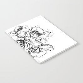 Flowers Line Drawing Notebook