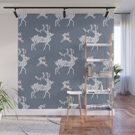 Scandi Knit Ornaments pattern 11 Wall Mural