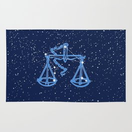 Libra Constellation and Zodiac Sign with Stars Rug