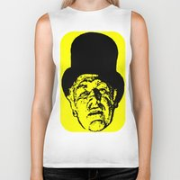 literature Biker Tanks featuring Outlaws of Literature (Ken Kesey) by Silvio Ledbetter
