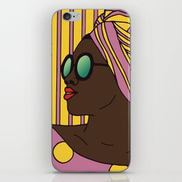 Woman in Pink And Yellow iPhone Skin