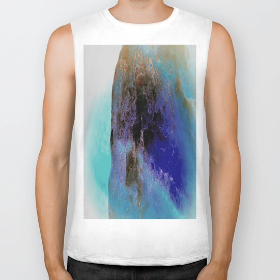 abstract world Biker Tank