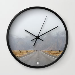 The Road To Mount Cook Wall Clock