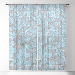 My Flower Design 14 Sheer Curtain