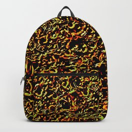 Neon Sparkle Red and Green Backpack