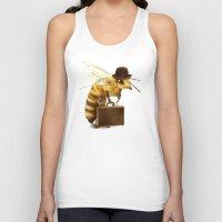 bee Tank Tops featuring Worker Bee by Eric Fan