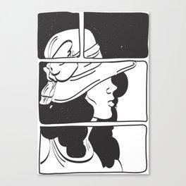 Lady in Black 2° Canvas Print
