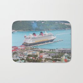 View of our ship Tortola Bath Mat