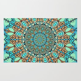 Zentangle Mandala 180218 - Bohemian Mandala Rug