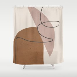 Minimal Abstract Art 6 Shower Curtain