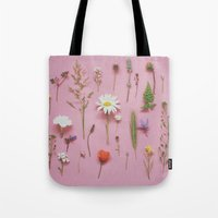 cassia beck Tote Bags featuring Wild Flowers by Cassia Beck