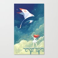 freeminds Canvas Prints featuring Flyby by Freeminds