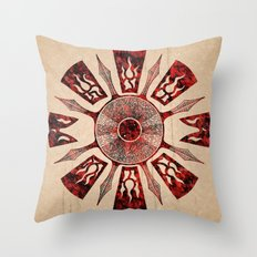 dashása redstone mandala Throw Pillow