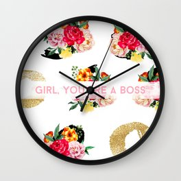 Girl, You Are A Boss Wall Clock
