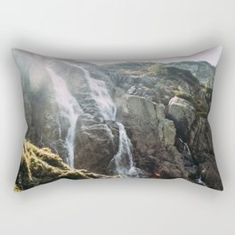 Waterfall In Sunlight Rectangular Pillow