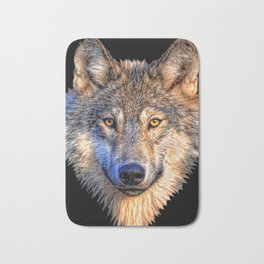 Midnight Wolf Bath Mat