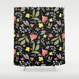 Spring Flowers Style Q Shower Curtain