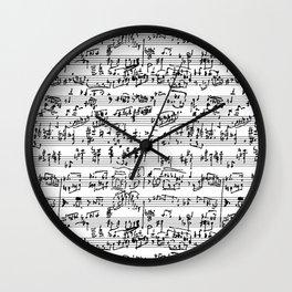 Hand Written Sheet Music Wall Clock