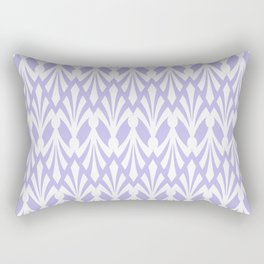 Decorative Plumes - White on Lilac Rectangular Pillow