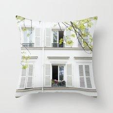 White, white windows Throw Pillow