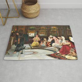 John William Waterhouse - Consulting The Oracle - Digital Remastered Edition Rug
