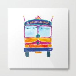 Groovy Indian Truck Metal Print