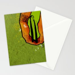 For you - green Stationery Cards