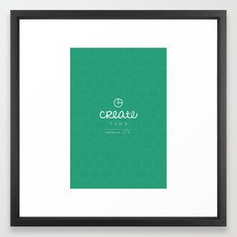 Create Time Framed Art Print