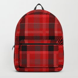 Red And Black Plaid Flannel Backpack