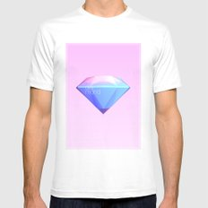 Crystallographic defects in diamond Mens Fitted Tee MEDIUM White