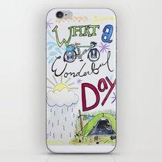 What a Wonderful Day iPhone & iPod Skin