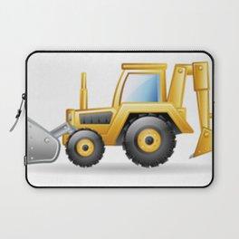 Yellow Excavating Tractor Icon Laptop Sleeve