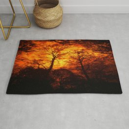 THE FOREST UNDER THE BURNING SKY Rug