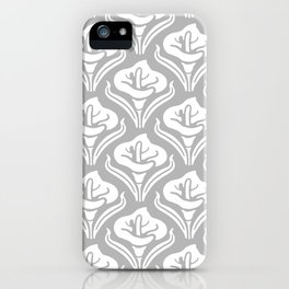 Calla Lily Pattern Gray iPhone Case