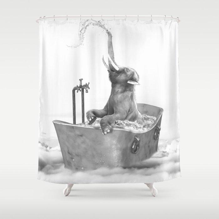 BABY ELEPHANT BATH Shower Curtain